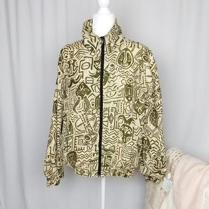 Oscar de la Renta 100% Silk Vintage WindbreakerB3